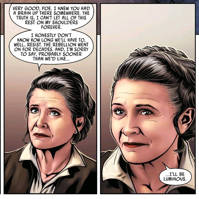 """Iris🌋🌱Alazmec Appreciation 🇵🇷 on Twitter: """"This came out in 2016. Yet  this comic had a funeral at the start and afterwards these Leia panels hit  hard. 😭 Poe Dameron Comic #14… https://t.co/c58hJz2G7g"""""""