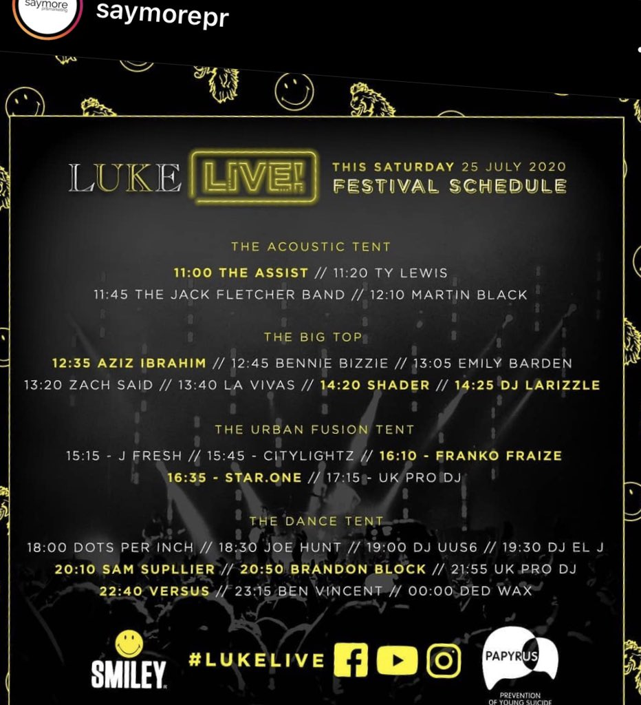 LUKE LIVE in aid of papyrus-uk.org is LIVE now. A very important cause @papyrus_uk - prevention of young suicide! Please share and tune in ! #LUKELIVE @lukeroper @saymorepr youtube.com/watch?v=DuOkO9… facebook.com/Luke1977Clothi…
