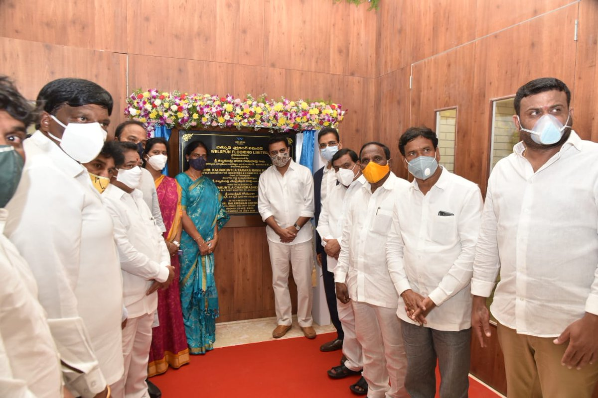 Minister For It Industries Ma Ud Telangana On Twitter Ministers Ktrtrs And Sabithaindratrs Inaugurated The Manufacturing Unit Of Welspun Flooring Ltd At Tsiicltd Industrial Park In Chandanvelly Ranga Reddy Dist Thewelspungroup
