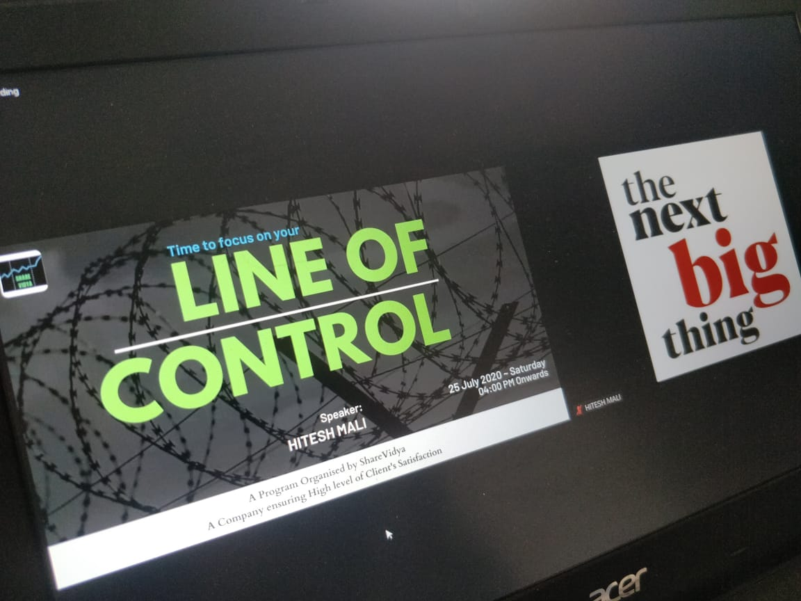 One more with super excited title. Line of control!!! #Saturdaylearning #nbt #hiteshmali  #investorwebinar #financialsteps #focus #workingweekend pic.twitter.com/7Lb53PB1wg