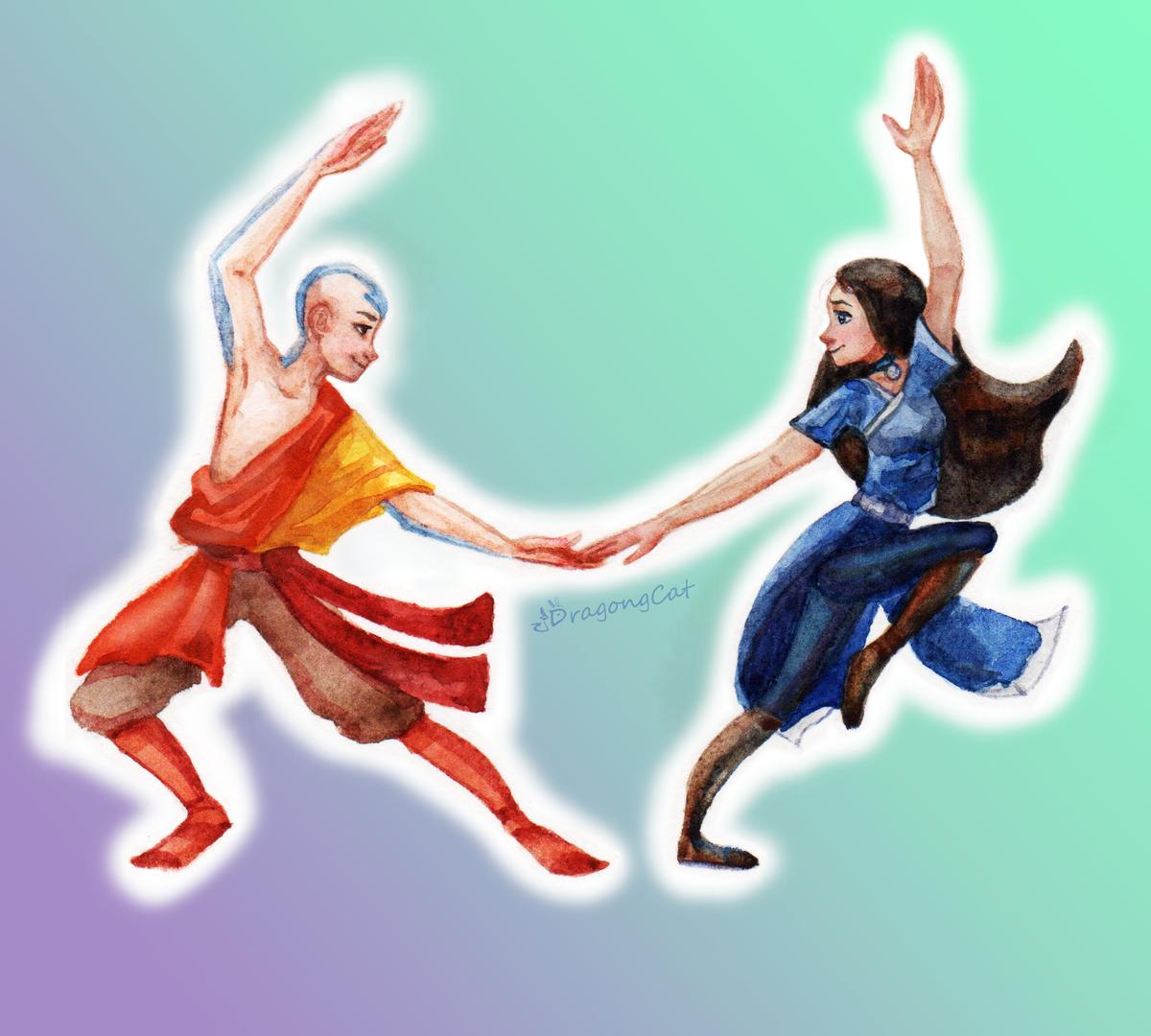 Hello! I like the avatar so here's Aang and Katara  #Avatar #atla #TheLastAirbender #watercolor #traditional #Fanart https://t.co/J2MvLaSyGd