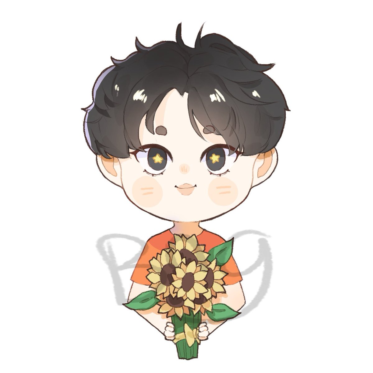 its been a long time since the last time i drew this cutie pie~  sorry for the watermark UwU  original pic by yangmathoy_bb  #Prem #prem_space #Sunflowers #UwU #BnG @Prem_spacepic.twitter.com/LotjKsnaf6