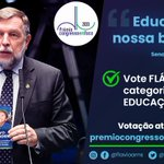 Image for the Tweet beginning: Estamos concorrendo ao Prêmio Congresso