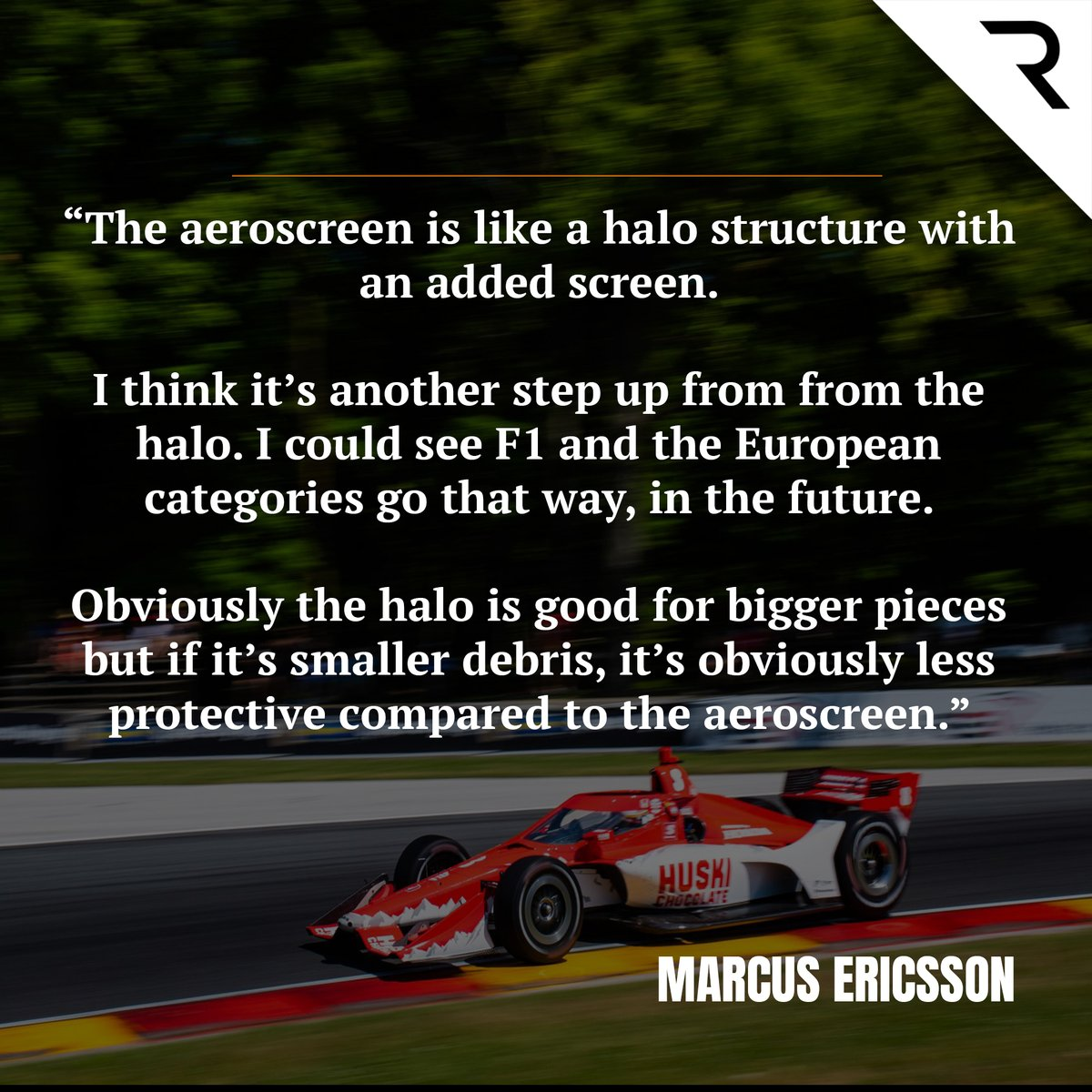 From halo to aeroscreen, is this the safety step up that #F1 needs?   🗣️ @Ericsson_Marcus reckons so 👇🏽 https://t.co/sOmYdV7Y5T