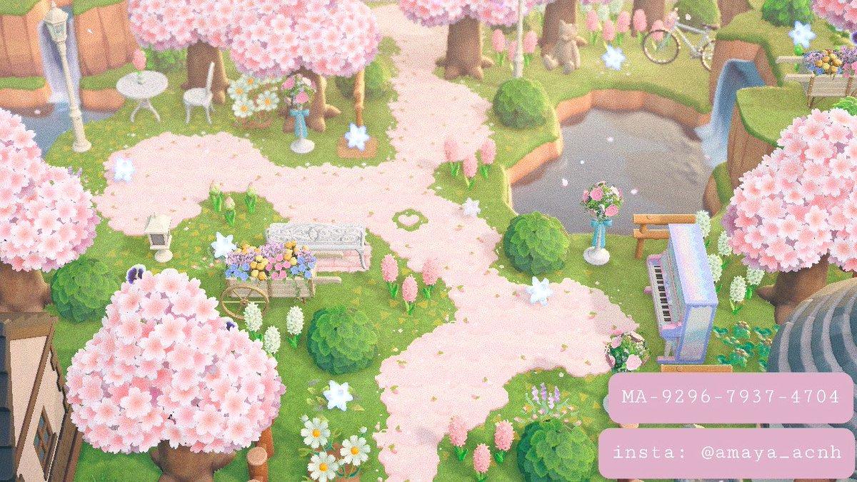 #マイデザまとめ🌸ふわふわみち🌸ータグーけものみち 桜 ピンク 可愛い 道Animal trail cherry blossom pink짐승도 벚꽃 핑크 귀여운#マイデザイン #マイデザ #マイデザインpro #동물의숲 #ACNHdesign #動物森友會 #あつ森 #ACNH#どうぶつの森©︎↓
