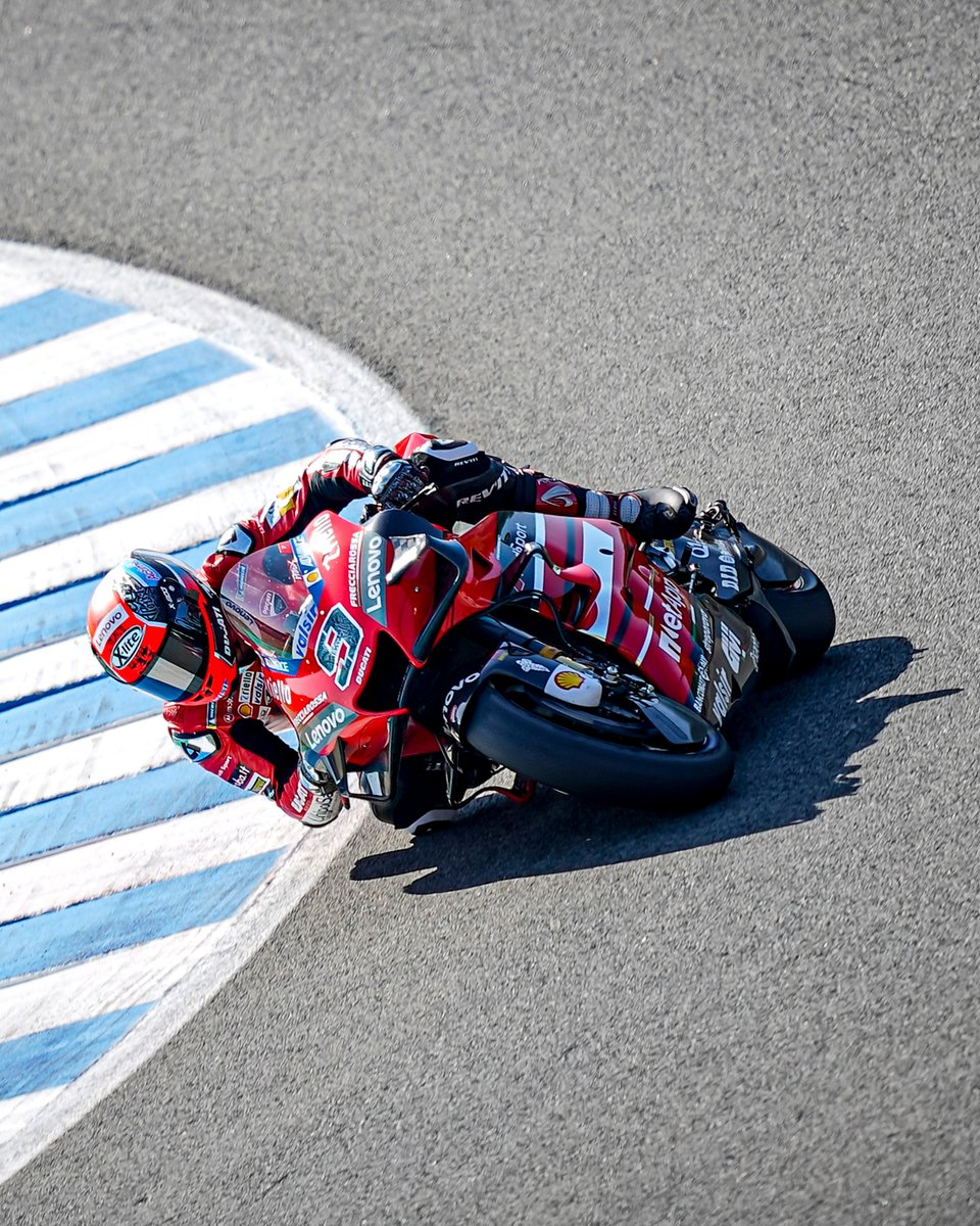The Ducati Team riders went through qualifying today at the #AndaluciaGP! @Petrux9 will start from 11th on the grid, while @AndreaDovizioso will depart from Row 5, from the fourteenth position tomorrow!  Follow @ducaticorse for more info from Jerez!  #ForzaDucati https://t.co/Zxaj3904od