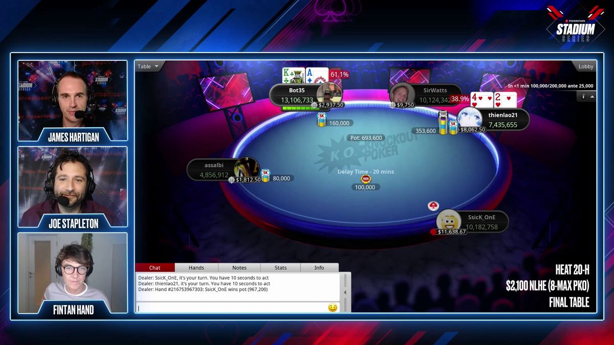 OMG, incredible hand. 👇 👀 twitch.tv/pokerstars