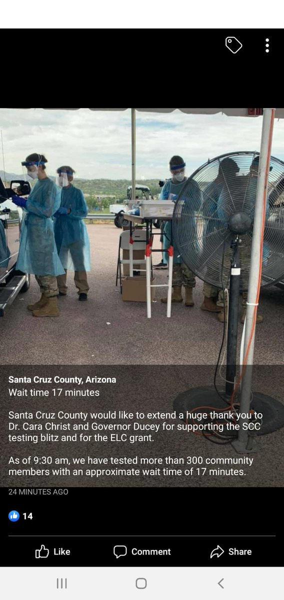 Thank you Governor Ducey and Dr.Christ for approving the Santa Cruz County testing grant!