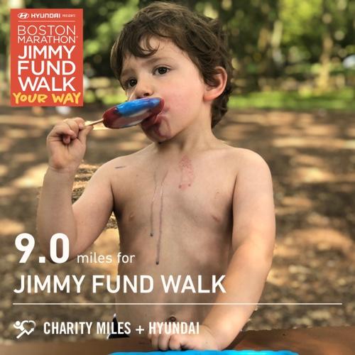 9.0 @CharityMiles for @TheJimmyFund. #JimmyFundWalk