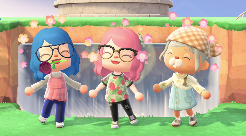 Ah yes. @Limeniee the Girlie Bi-Girl, Lani the Urban Bi-Girl, and @Noeley_  the Cottagecore Bi-Girl. Together they joined forces to defeat the ultimate villain: Trying to figure out how to fucking flirt with other girls.  #acnh #animalcrossing #uwu pic.twitter.com/2VMzBvaq9G