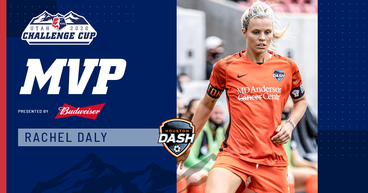 A @Lionesses that has roared loud since the very first minute of play in Utah 🦁  @RachelDaly3 is the Most Valuable Player, presented by @budweiserusa, award winner.   #NWSLChallengeCup