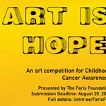 "Image for the Tweet beginning: FARIS FOUNDATION ""ART IS HOPE"""
