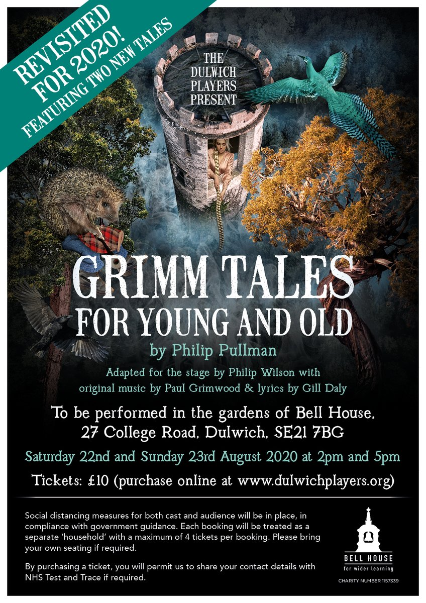 Exciting news! On 22 & 23 Aug we will perform a new production of #Grimm Tales in the beautiful gardens of @BellHouseNews, #SE21. Rediscover Rapunzel and Hans-My-Hedgehog as well as two brand-new, fantastically silly, gory tales. Tickets are available at https://t.co/h6772YpKQJ😍 https://t.co/rEHdaWr7ca