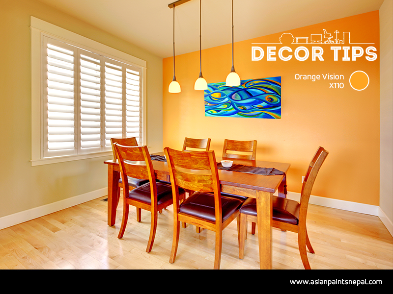 While refurbishing, create an accent wall with different paint color, textures, or patterns that helps you to focus attention on certain areas of the room.  For more interior style and trends: http://bit.ly/AP-InteriorTrends… #DecorTips #AccentWall #AsianPaintsNepalpic.twitter.com/KkyxC34qc0