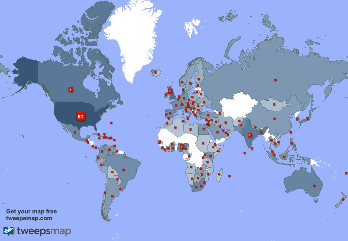 Special thank you to my 241 new followers from USA, Canada, Japan, and more last week. tweepsmap.com/!MySmallStoreMN