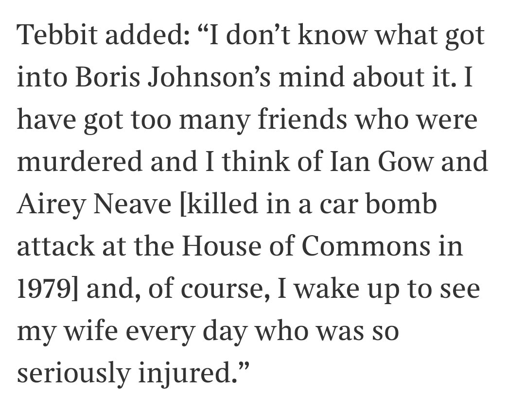 Lord Tebbit powerfully speaks out over the appointment of Claire Fox. Is the Prime Minister going to simply ignore the hurt this has caused? @thesundaytimes