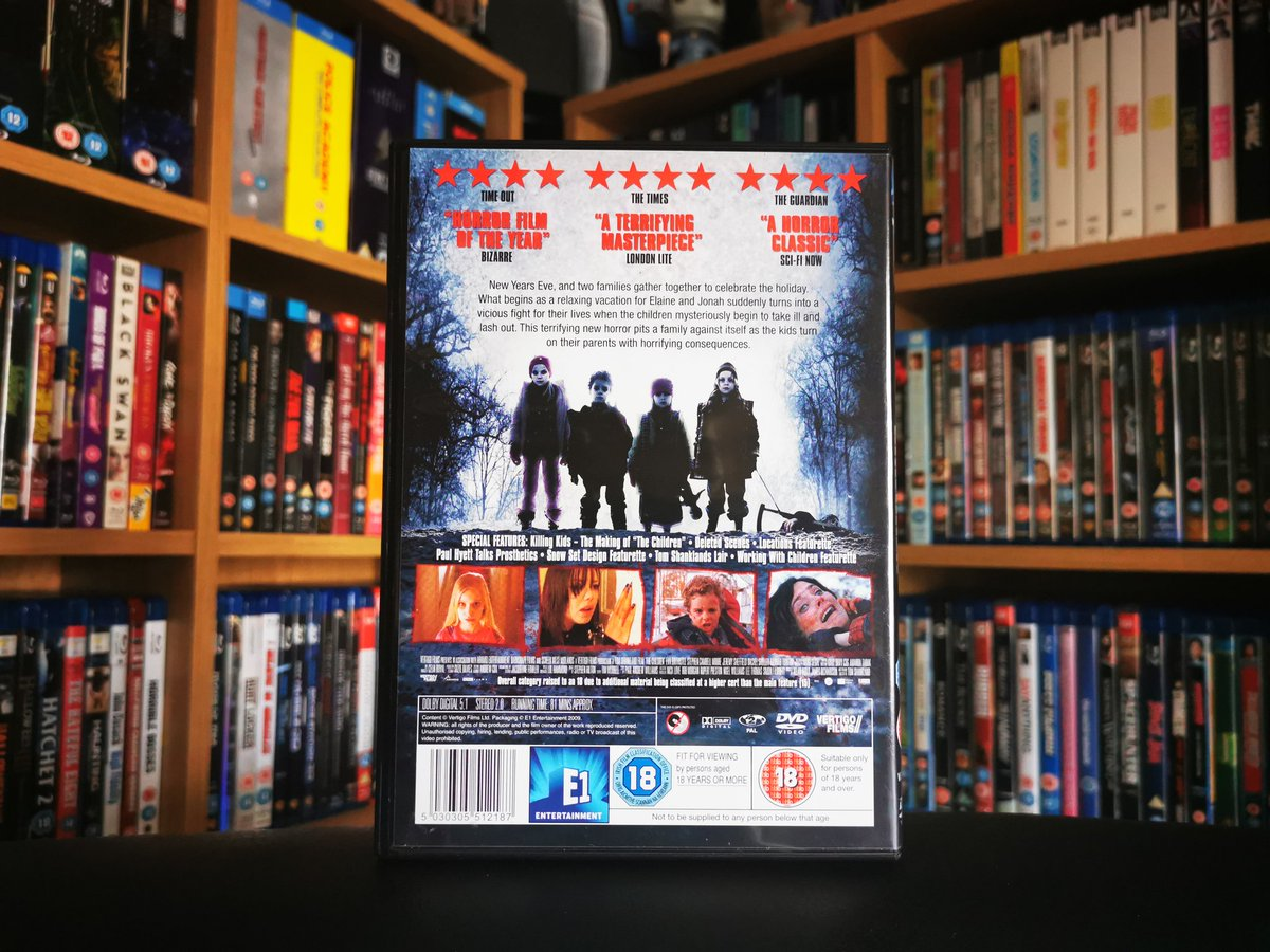 (2/2) The Children (2008)  DVD transfer looks good, no complaints, 1.85:1 aspect ratio  Dolby Digital 5.1 Surround audio track, optional 2.0 channel track @vertigofilmuk  #horror #moviecollector #moviecollection #dvd #dvdcollector #dvdcollection #Film #movies #Cinephilepic.twitter.com/e7jsrB0wzE