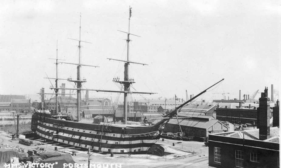 #OnThisDay 1922 HMS VICTORY was moved into No 2 Dock in @HMNBPortsmouth to be preserved for the nation. VICTORY is the oldest commissioned warship in the world and is located in the oldest Dry Dock still in use in the world, commissioned by King Henry VII in 1495. @PHDockyard
