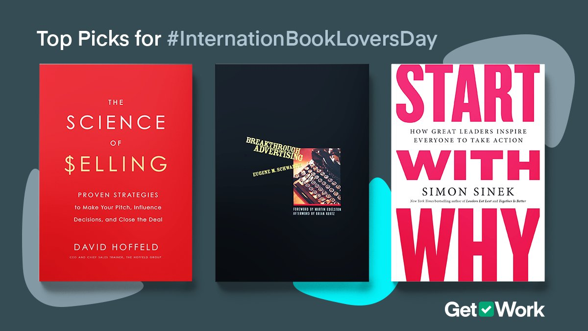 Are you struggling to grow your business?  For #NationalBookLoversDay we decided to provide some book recommendations!  ✨ Selling: The Science of Selling by David Hoffeld  ✨ Marketing: Breakthrough Advertising by Eugene M Schwartz  ✨ Management: Start With Why by Simon Sinek https://t.co/uVYt6x5ht9