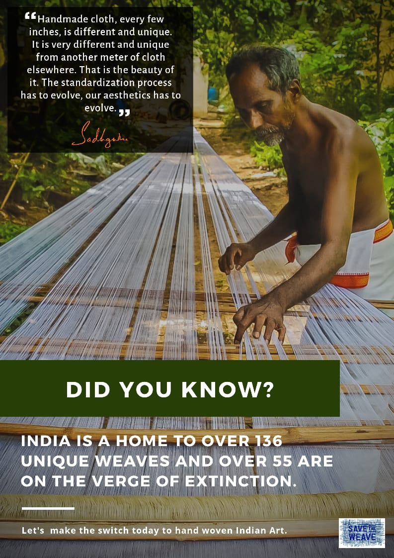Save the weave #savetheweavechallenge #Vocal4Handmade #handlooms #indianhandlooms #textilesofindia pic.twitter.com/6LI3S3A4MN