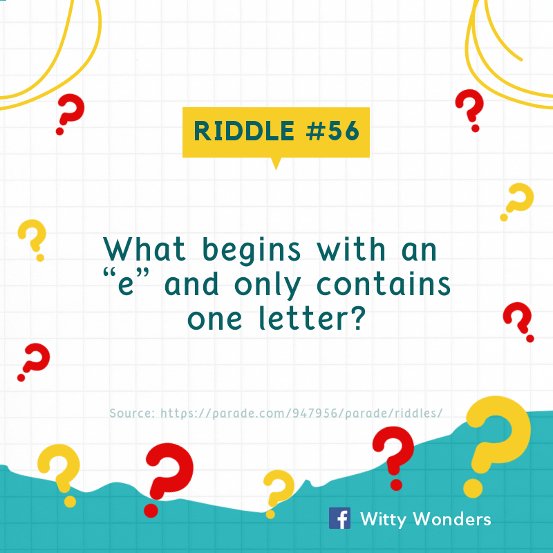 Time for some riddlin' fun! Try to crack these riddles. #riddle #riddleoftheday #dailyriddle #citizenservices #wittywonderpic.twitter.com/vrNrT03zhn