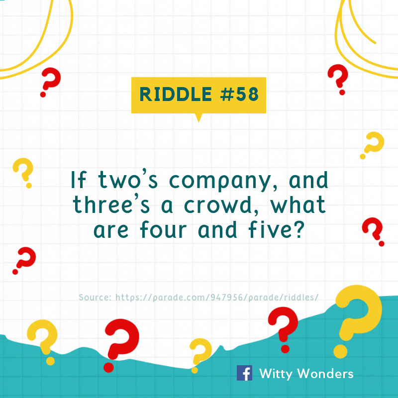 Time for some riddlin' fun! Try to crack these riddles. #riddle #riddleoftheday #dailyriddle #citizenservices #wittywonderpic.twitter.com/yUd31Y3uIu