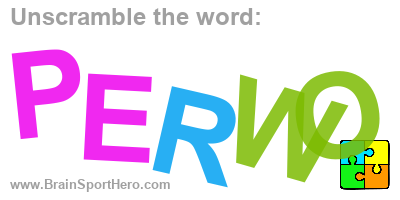 Unscramble the letters and find the correct word? P E R W O. #puzzle #indiedev #brainteasers #brainsport https://brainsporthero.com/unscramble-solution/?e=HPOSVSVtIlOC&a=HR9KEIV%3Q…pic.twitter.com/MHCr1wVvyd