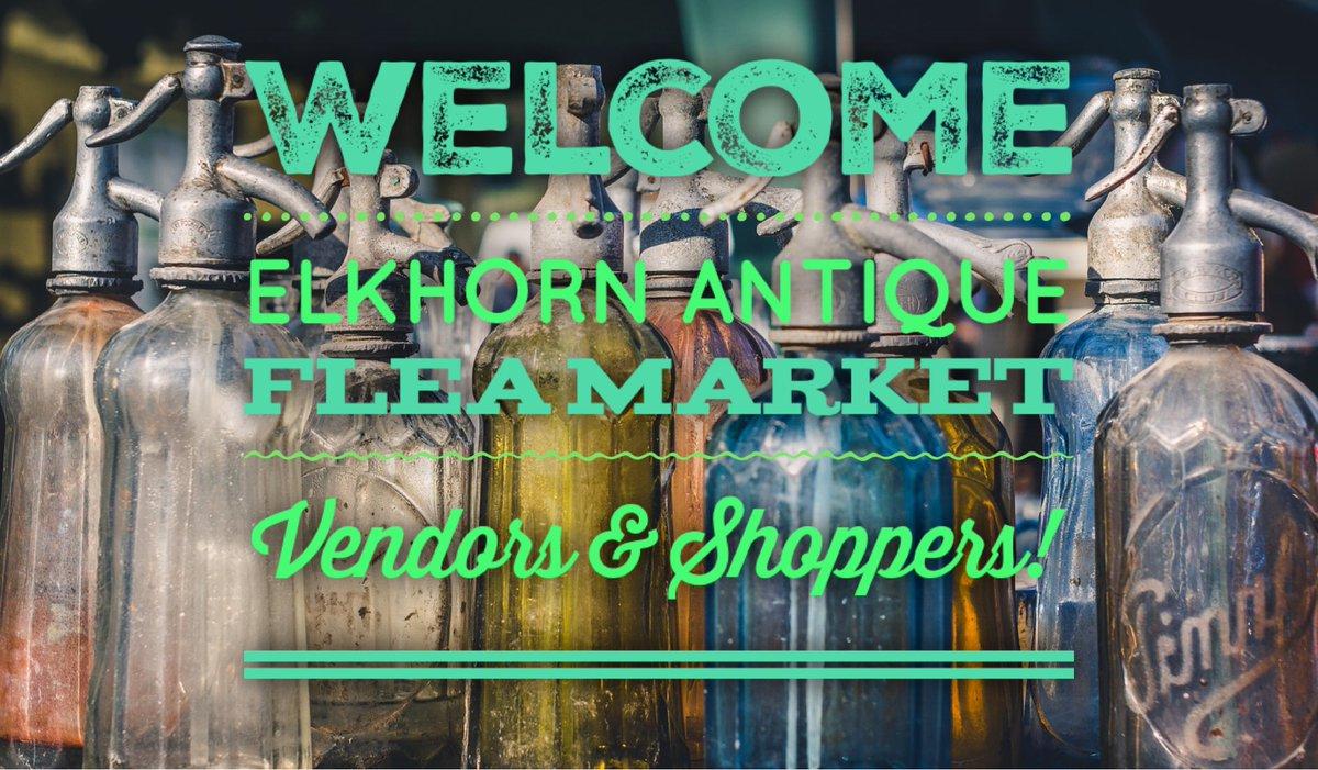 Gates open at 7a! Elkhorn Antique Flea Market 8/9/2020 https://t.co/G2Db7Ln0lw