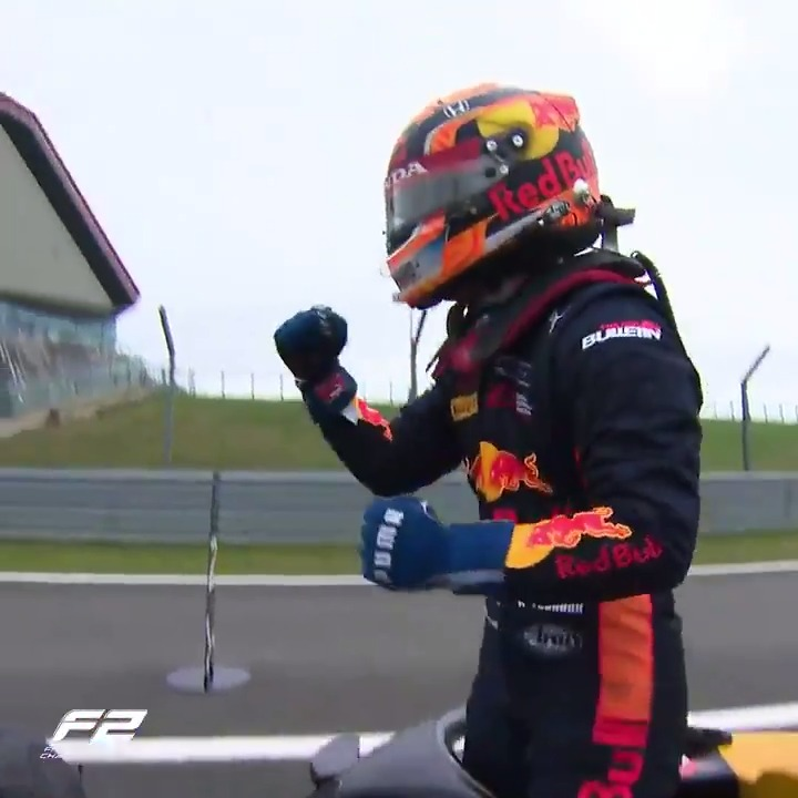 A Red Bull-backed superstar winning in Silverstone?  @FIA_F2 beat us to it! Japan's @yuki_TY0511 took his maiden F2 win on Sunday 💪  #RoadToF1 #F2   https://t.co/gV2cTV4X9E