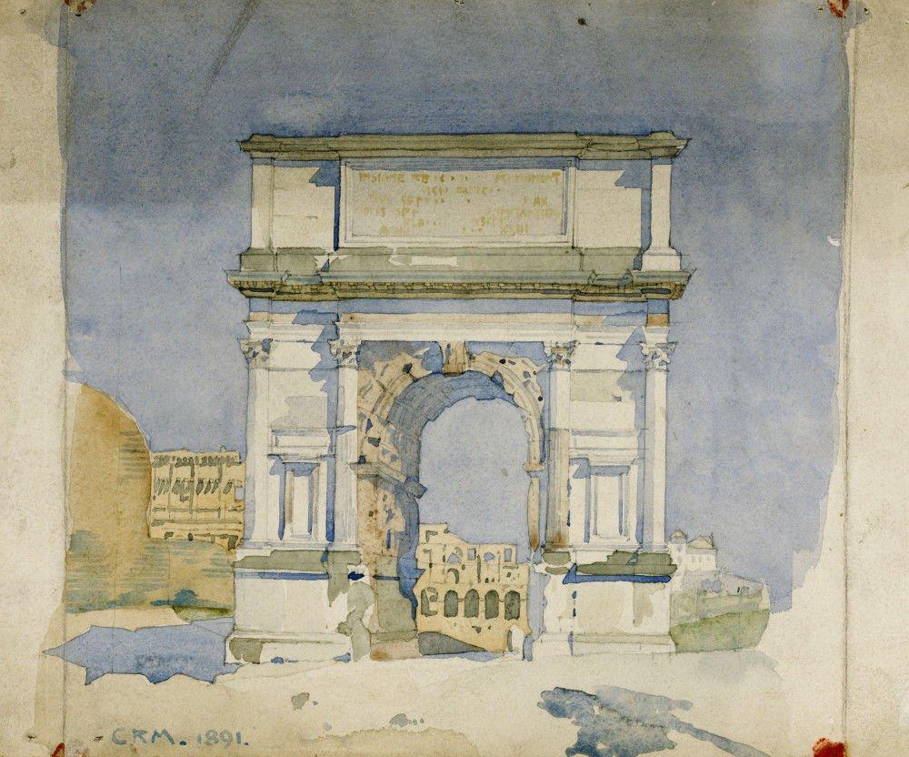 The Arch of Titus, Rome, 1891  - Charles Rennie Mackintosh  #arte #pittura #artenouveau #charlesrenniemackintosh #britishart #Roma #acquerellopic.twitter.com/7Db2sUcUkS