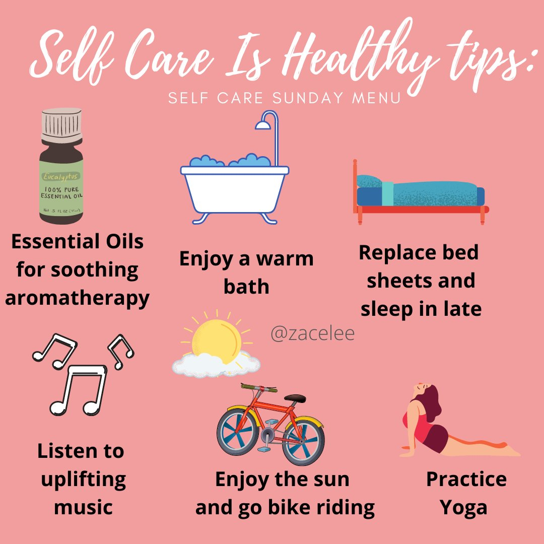 Quick Self Care Is Healthy tip: Focus on what makes you happy and so you can relax your spirit.  #healthyliving #sharingiscaring #wellnessmatters #reconnect #hearthealth #growth #recharging #biking #meditation #healthandwellness #mentalhealth #selfcareeverydaypic.twitter.com/BnbwwPO4VB