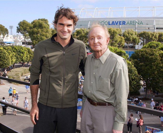 From 1 Legend to another Happy birthday Rod Laver