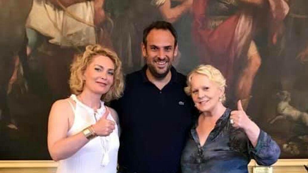 Katia Ricciarelli incontra il sindaco Conte: «Nuo...