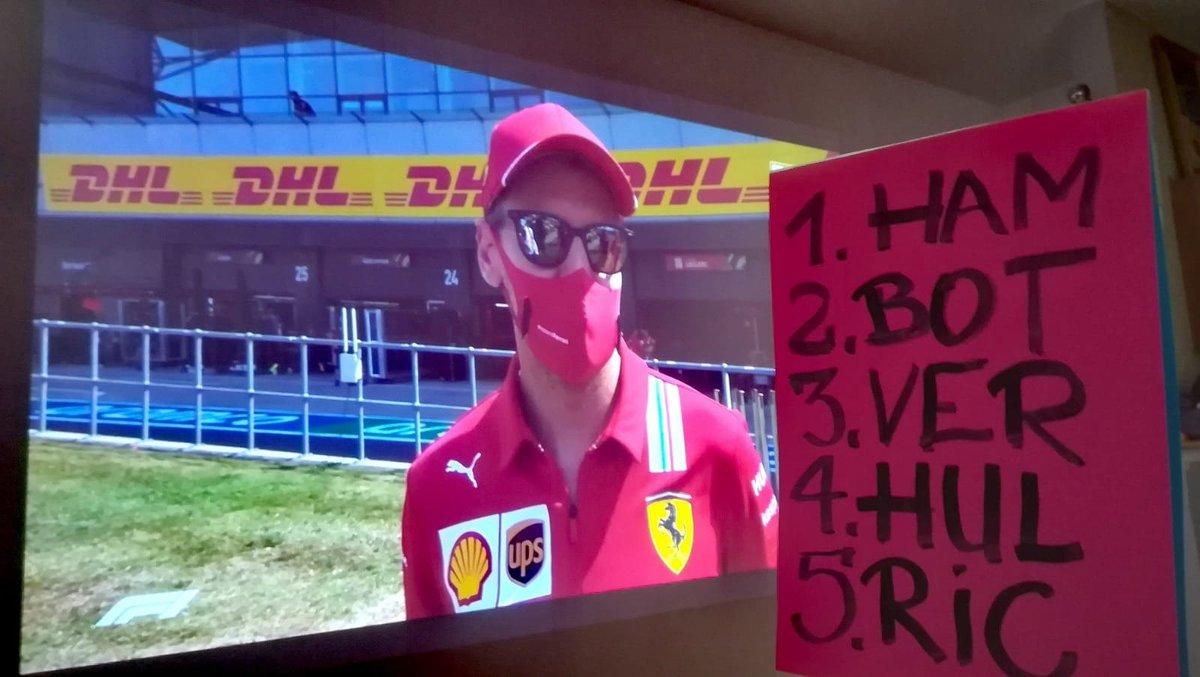 Leon typuje pierwszą piątkę #F170 #70thAnniversaryGP  #KartkaBezLeona #VettelZkartką 🤭 #ElevenF1 #LeonTypuje #Silverstone  #F1 #Formula1 #ForzaFerrari #LeonZkartką https://t.co/EAStH1szvq