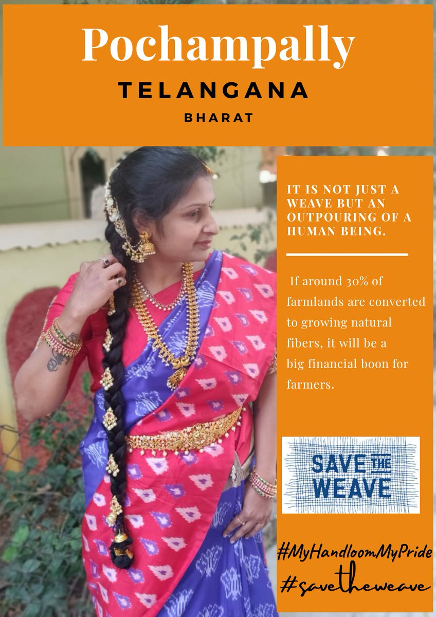 Pochampalli silk saris are light-weight & comfortable. Hence it is a great fabric to be
