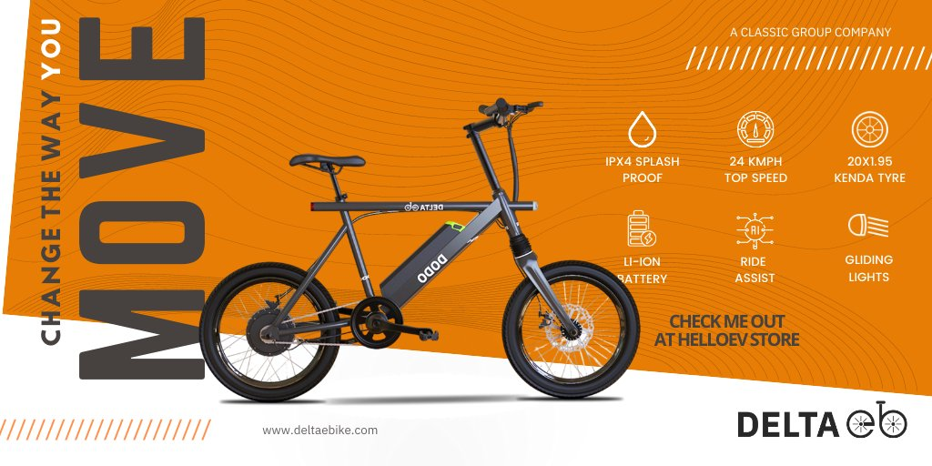 DODO C1 lets you experience the electric throttle, convenient riding with pedal assistance and countless joyrides  Do you want to change the way you move? Head over to the nearest Hello EV store today!  To know more, please visit http://deltaebike.com  #HelloEV #DeltaEBikepic.twitter.com/5A3JkTH20S