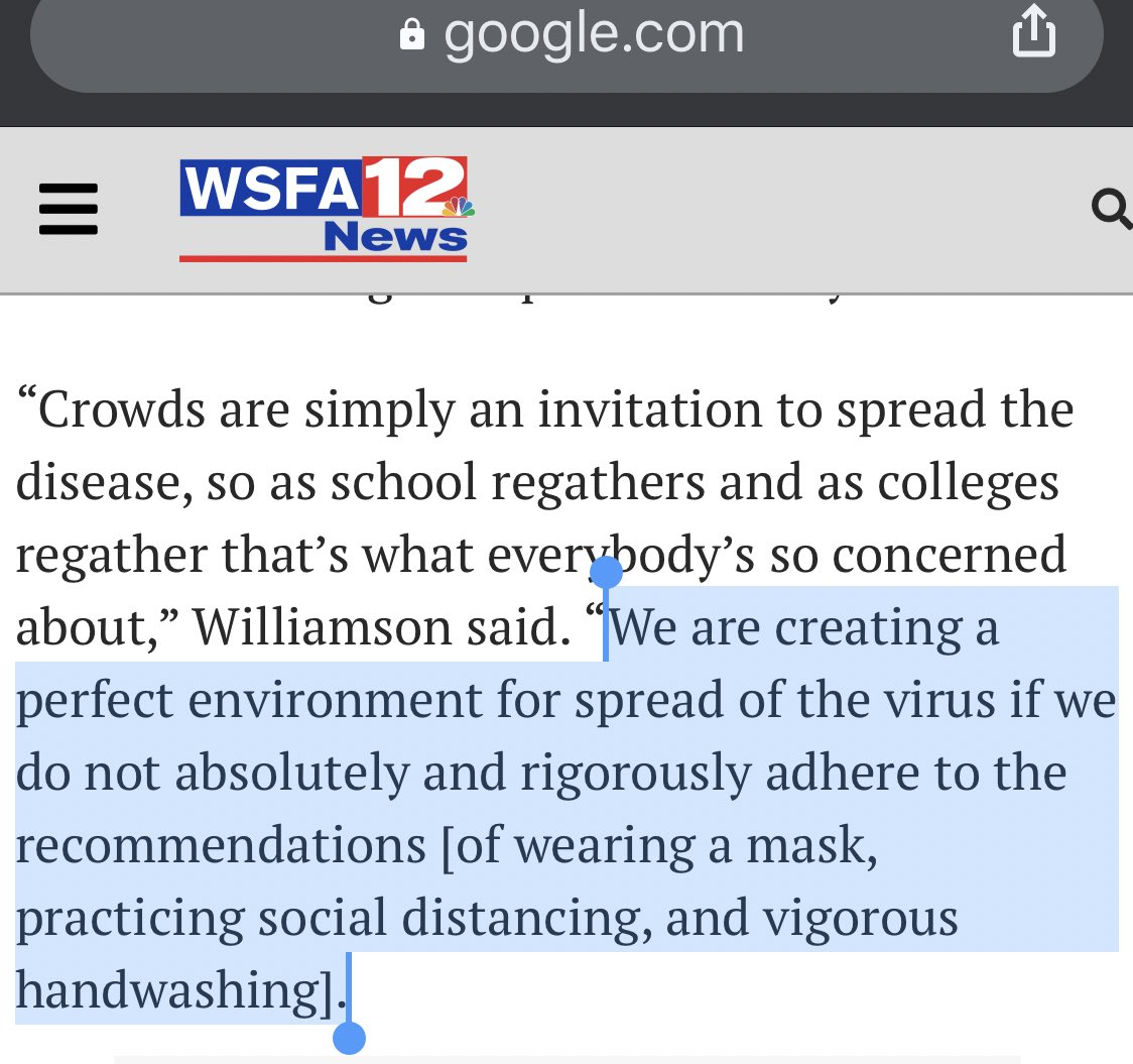 @WKRG It's irresponsible to do in-person school considering local hospitals are at capacity. google.com/amp/s/www.wsfa…