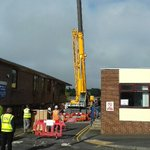 Successful crane lift yesterday @WWLNHS main entrance refurb with Schofield&sons contractors