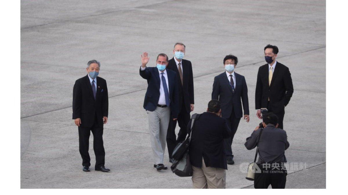 美國衛生部長阿紮爾率團抵達台灣訪問 https://t.co/HAEg4bXIZE https://t.co/pxfKGAbmWj