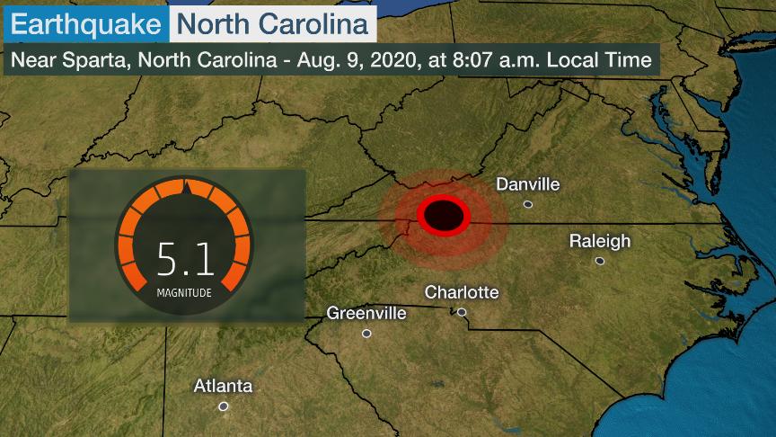 N Carolin earthquake
