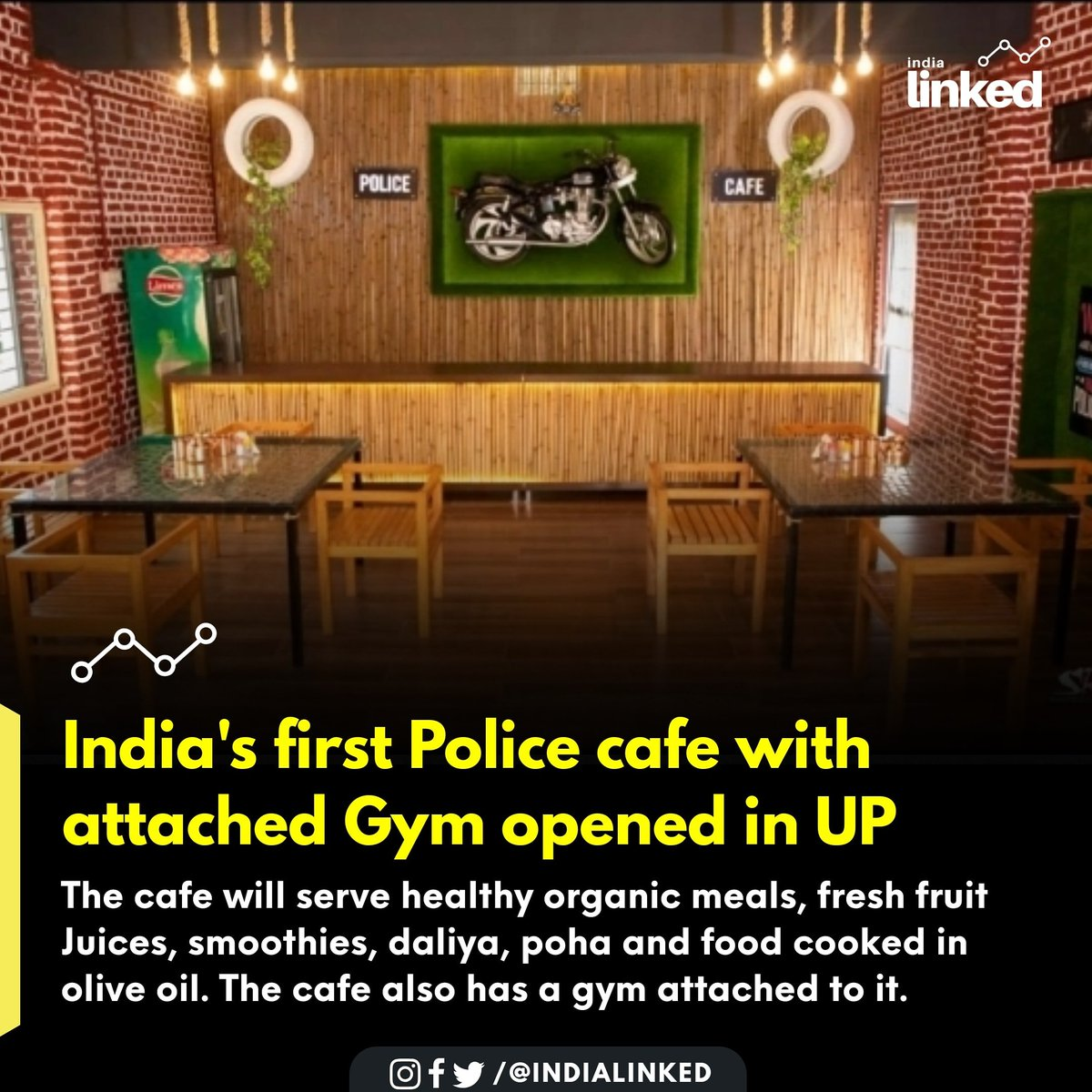 𝗙𝗼𝗹𝗹𝗼𝘄 @indialinked 𝗙𝗼𝗿 𝗠𝗼𝗿𝗲. ⁣ ⁣ UP Cops Set Up Unique 'Police Cafe' to Serve Personnel and Deliver Food in Muzaffarnagar. ⁣ ⁣ #indialinked #indianpoliceservice #indianpolice #muzaffarnagar #uttarpradeshpic.twitter.com/ZhOZZFNmCr