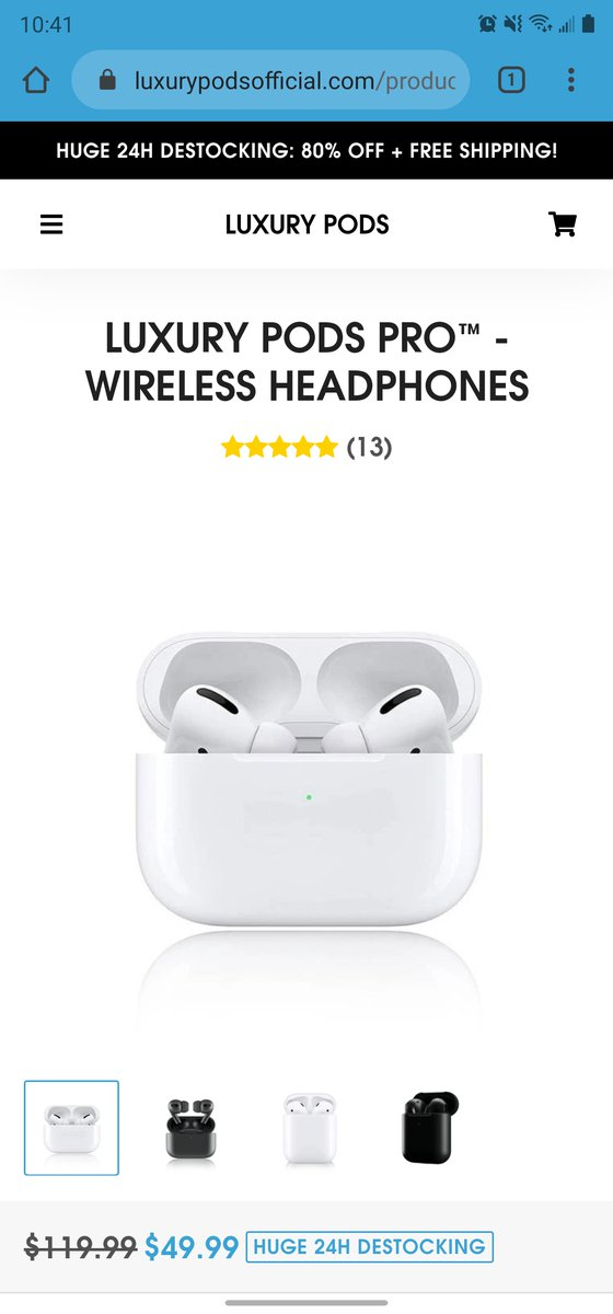 Another one: Random company drop-selling AirPods Pro clones is stealing a gif from my review without permission. Shame. Trash. https://t.co/lyHS0e7eZN