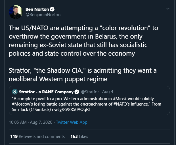 I legitimately cracked up at this tweet.   Tankies really are the worst. https://t.co/EglBqcUyhv