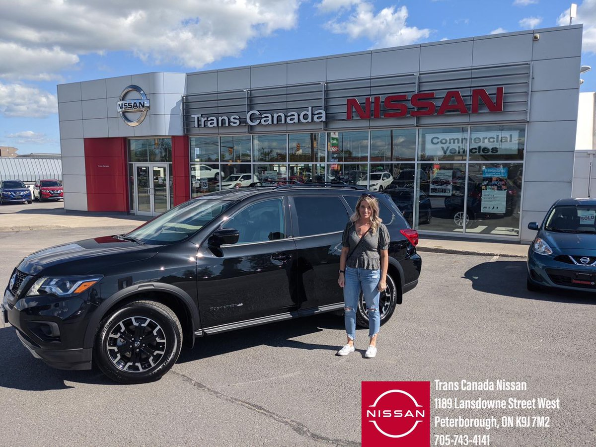 #FriYAY we've got a #HappyCustomerAlert  Please join us in congratulating Krista, pictured here looking fabulous beside her brand new 2020 Nissan Pathfinder RockCreek Edition.  From Mark and the rest of your #TCNfamily, #thankyou for your business and #EnjoyTheRide pic.twitter.com/VcGNT9yD06