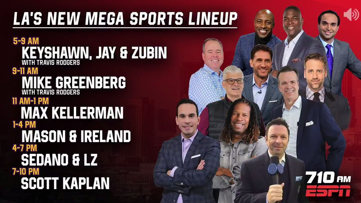 .@VeniceMase & @LAIreland are returning to your lunchtime on 710 ESPN! It all starts August 17 bit.ly/ListenLA