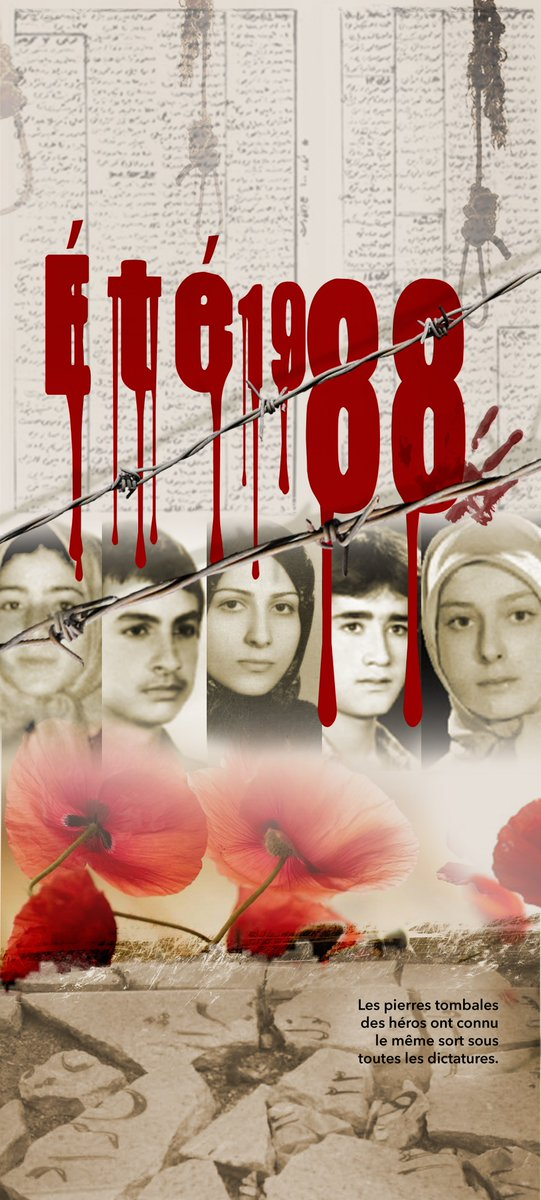 Political prisoners in 1988 rose up and defended their identity and emancipating cause with the utmost pride #1988Massacre #Iran pic.twitter.com/1yEsoUAjNz