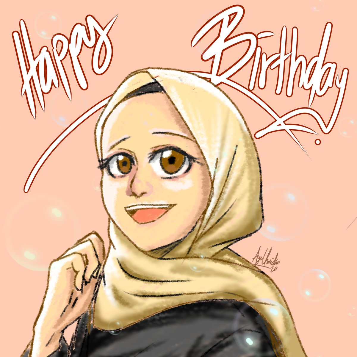 A birthday present to my bestie @Aini_Channie   Happy birthday dear!!! I'm drawing while listening to your broadcast skskskskskpic.twitter.com/IKSuFQqF2Q