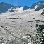Image for the Tweet beginning: Rock debris covers glaciers across