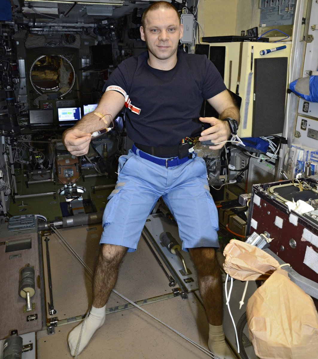 #Experiment Neuroimmunitet — studying the influence of stress of various genesis on the immune system before, during and after the flight. The results will provide data to choose measures to prevent unwanted immune response in stressful conditions in space and on the Earth.