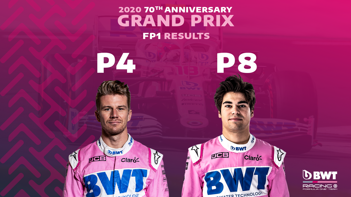 There we have it for FP1, and a solid return to the track 💪  🇩🇪 @HulkHulkenberg P4⃣ 🇨🇦 @lance_stroll P8⃣  #F1 #F170 https://t.co/0wPvNAGga9